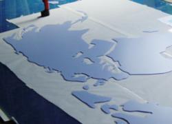 Herstellung der Weltkarte
